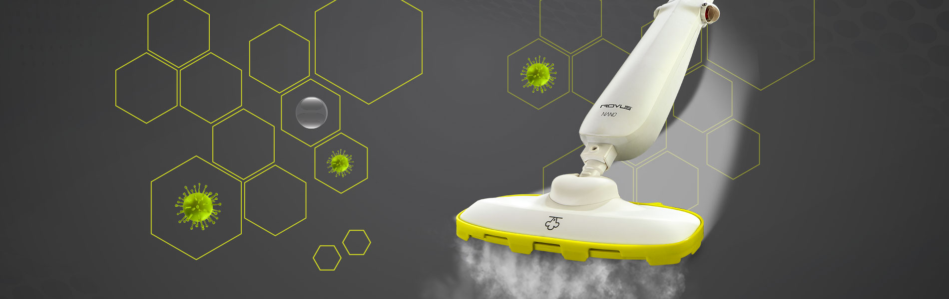 Пароочиститель для пола Rovus Nano